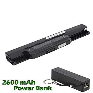 Battpit Bateria de repuesto para portátiles Asus K43U (4400mah / 48wh) con 2600mAh Banco de energía / batería externa (negro) para Smartphone