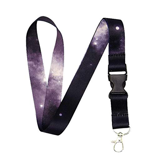 Lanyard-Lanyards for Women/Men-ID Lanyard-Key Lanyard-University Lanyard -Premium Soft Silky Wide Strapped Beautifully Printed Lanyard with Safe Removable Buckle & Spring Clip