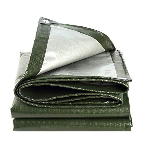 市区町村負担閲覧するQIANGDA トラックシート荷台カバーシェッド 防水 引裂抵抗 ポリエチレン アウトドア (180g / m2、厚さ0.35mm)様々なサイズ (色 : Army green+silver, サイズ さいず : 3.8 x 7.8m)