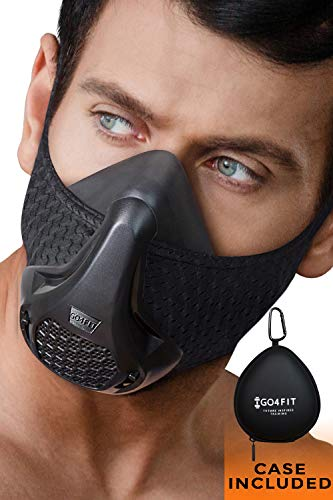 GO4FIT Workout MASK | High Altitude Elevation Simulation | Training, Breathing, Running, Cardio, Fitness | Resistance Training Endurance MASK | Gym MASK