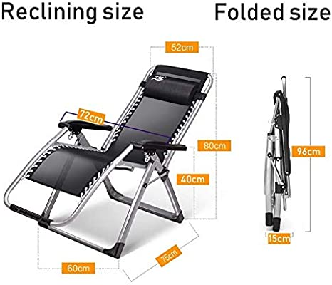 Amazon.com: Sillas reclinables para patio de gran tamaño ...