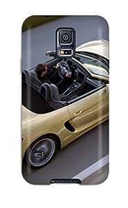New UsflcRt10907rkHST 2013 Porsche Boxter S Top Down Convertible Cars Porsche Skin Case Cover Shatterproof Case For Galaxy S5