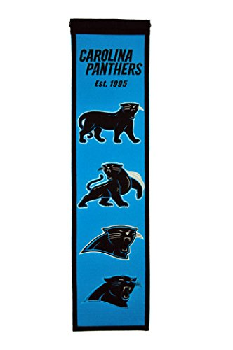 NFL Carolina Panthers Heritage Banner (Carolina Panthers Applique Banner)
