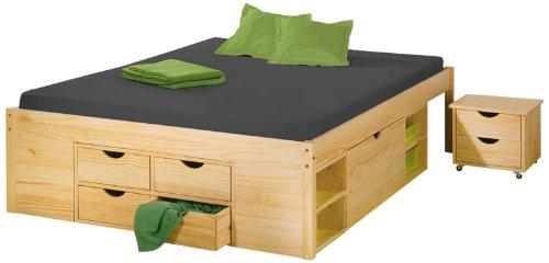 Links 30400640 Bett 140x200 cm Doppelbett Stauraumbett ...