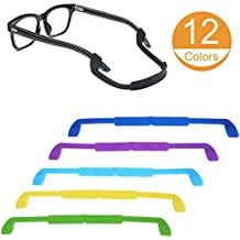 12 Pack Glasses Strap Eyewear Retainer Eyeglass Cord Holder Antislip for Kid for 12 Colors