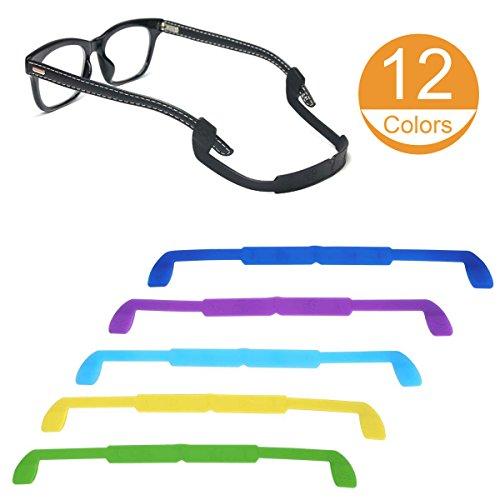 12 Pack Glasses Strap Eyewear Retainer Eyeglass Cord Holder Antislip for Kid for 12 Colors