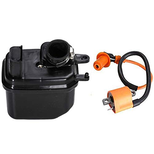 Coil Housing - HIFROM Ignition Coil With Air Filter Cleaner Box Housing Assembly for Yamaha PW50 1981-2010 Dirt Bike