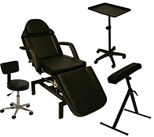 LCL Beauty Tattoo Package Hydraulic Table Chair Arm Bar Bed Tray Studio Salon Equipment