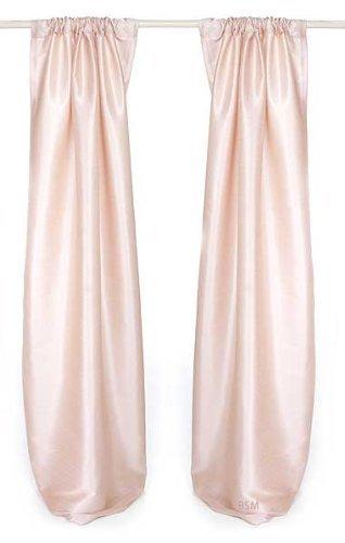 Glenna Jean Victoria Drapery Panels, Pink Faux Silk, 90