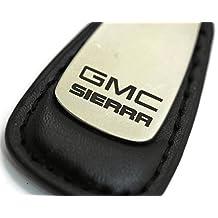 GMC Sierra Leather Key Chain Black Tear Drop Key Ring Fob Lanyard
