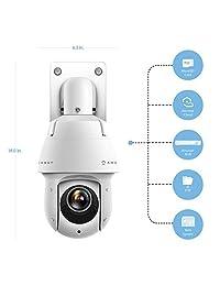 Amcrest 4 MP outdoor PTZ POE + IP Pan Tilt Zoom camera (12 x motorized optical) UltraHD POE + Camera Dome speed security camera, CMOS Image sensor, 328ft night vision, POE + (802.3at) - IP66, 4 MP, IP4M-1053EW