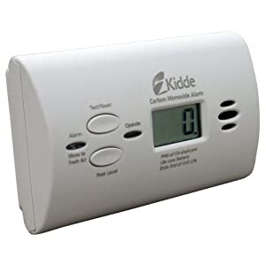 Kidde KN-COPP-B-LPM Battery-Operated Carbon Monoxide Alarm with Digital Display, 3 Pack