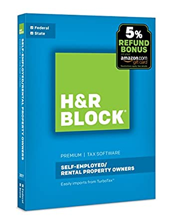 H&R Block Tax Software Premium 2017 + Refund Bonus Offer