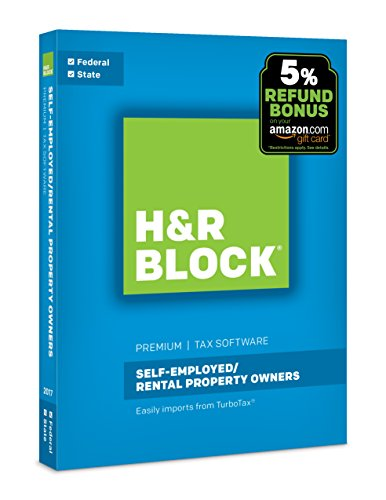 H R Block Tax Software Premium 2017 With 5  Refund Bonus Offer