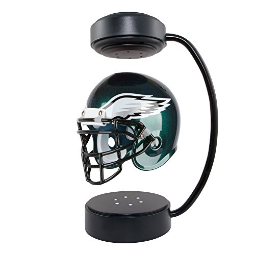 NFL Hover Helmet - Collectible Levitating Football Helmet with Electromagnetic Stand, Philadelphia Eagles Collectibles