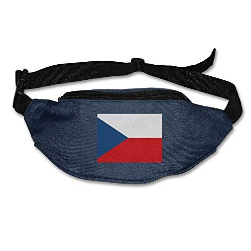 Spanwell Czech National Flag Unisex Waist Packs Adjustable Outdoor Running ort Hiking Fanny Packs Wallet