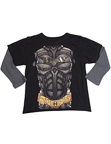 DX-xtreme - Little Boys Batman Long Sleeve Top, Black, Charcoal 32250-2T