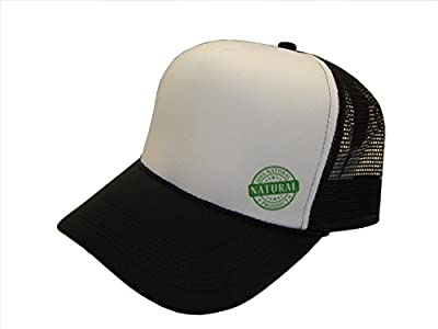 THS All Natural Product Logo Mesh Trucker Cap (One Size, Black/White)