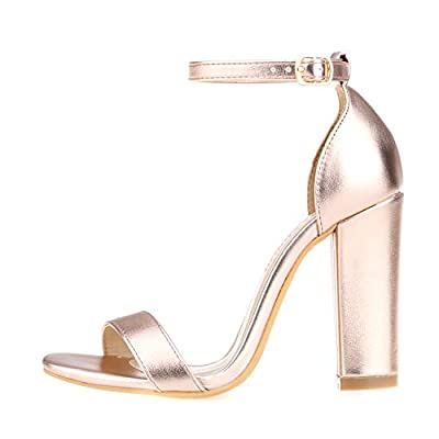 Women's Strappy Chunky Block Sandals Ankle Strap Open Toe High Heel for Dress Wedding Party Evening Office Shoes Sandals