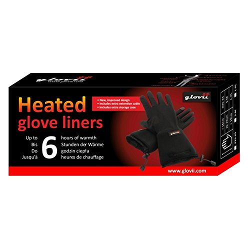Battery Heated Universal Touchscreen Glove Liners, up to 6 hours of warmth at one recharge - improved 2014 model with free battery extention cable and free storage case - Glovii by Glovii (Image #5)