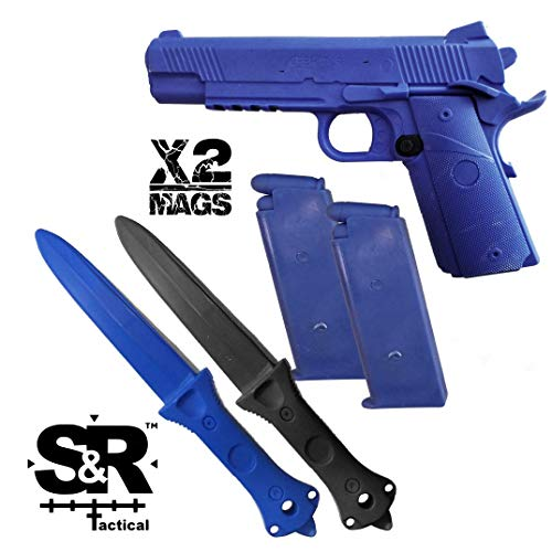 S&R Tactical - Training Gun and Knife Combo Pack 1911 (Combo W/Extra Mag)
