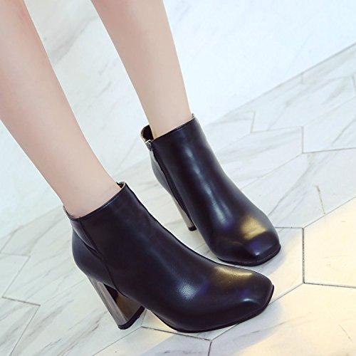 Talons Martin Hauts Chaussures De Polyvalent Noires Coton 39 Fminin Avec Et Polaire Audacieuses Ct Bottes lgant En Zippes Carres ZRaq6Zwd