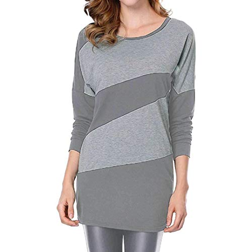 Longues Ray Shirt Long Tops O DContract Manches LGer Femmes Blouse Gris Tops Ray T Automne VJGOAL Cou xHfwqCYz