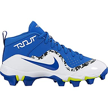 Nike Kids' Force Trout 4 Keystone Baseball Cleats(Blue/White, 5 Big