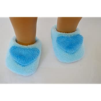 ebcca447708 Amazon.com  Blue Fuzzy Slippers Compatible with American Girl Dolls ...