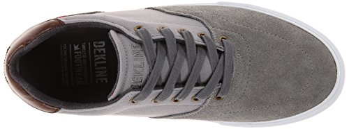 Shoe Wayland Dekline Pewter Skateboard Men's Grey Mid CqntS5n