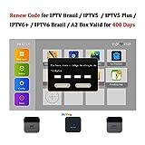 16-Digit Brazil TV Box Renew Code for IPTV Brazil / IPTV5 / IPTV6 / IPTV5 Plus / IPTV6 Plus / A2 TV Box Brazil Brazilian TV Box Activation Code Subscription Service Valid for 400 Days