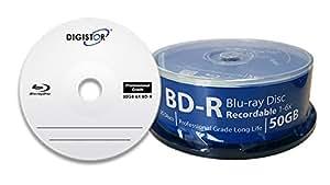 Digistor - Torre de discos Blu-ray vírgenes (BD-R, 6x, 50 GB, 25 unidades)