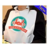 NeatGards Embossed White Crab Adult Disposable Poly Bib, 15.5 x 20 inch -- 500 per case.