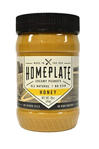 Peanut Butter, Honey Flavored Creamy, All Natural, No Stir, Non-GMO, 16 oz. Jar HomePlate Peanut Butter