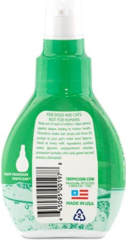 Fresh Breath by TropiClean Oral Care Drops for Pets, Made in USA
