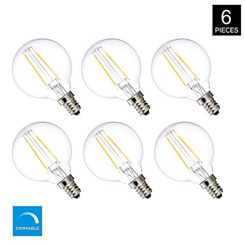 MRDENG LED Light Bulbs 40 Watt Replacement Led Light Bulbs ,G16.5/G50 3.5W Energy Saving LED Bulb,E12 Socket,Warm White Globe Light Bulb (2700K) Pack of 6