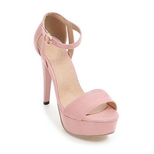 AN Womens Non-Marking Dress Peep-Toe Urethane Sandals DIU00804 Pink e7RmjlXpPq
