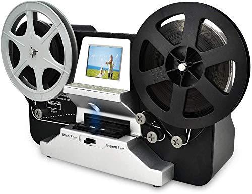 8mm & Super 8 Reels to Digital MovieMaker Film Sanner,Pro Film Digitizer Machine with 2.4″ LCD, Black (Film 2 Digital Movie Maker&8mm Film Scanner) with 32 GB SD Card