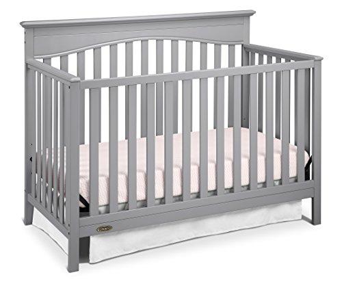 Graco Hayden 4-in-1 Convertible Crib, Pebble (4in 1 Cot)
