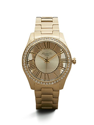 Kenneth Cole New York Women's KC4853 Transparency Yellow Gold Transparency Analog Watch