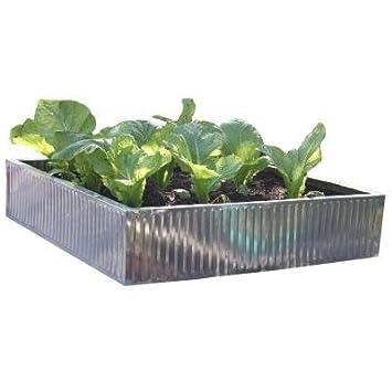 Viagrow Verzinktem Stahl Hochbeet Garten Zaun 88 9 X 88 9 X 19 8 Cm