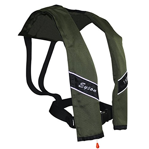 Eyson Slim Inflatable PFD Life Jacket Life Vest Adult Automatic (Olive)