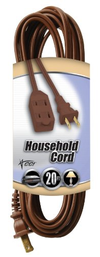 Coleman Cable 20ft. 16-2 Brown Indoor Cube Tap Extension Cor