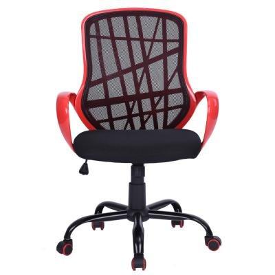 Silla de oficina ajustable brazo giratorio de malla de plástico metal rojo / negro: Amazon.es: Hogar