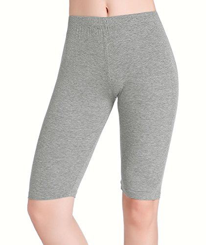 258518a27588d5 CnlanRow Womens Under Skirt Pants Soft Ultra Stretch Knee Length Leggings  Fitness Sport Shorts,Large