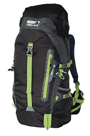 High Peak Aspen - Mochila de senderismo de 36 l, color negro/ verde
