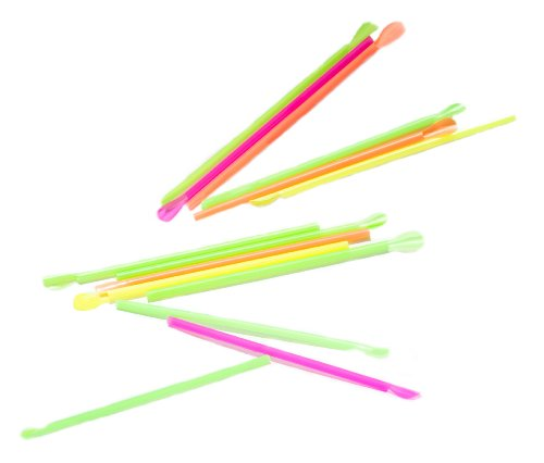 Perfect Stix Concession Spoon Straw, Plastic Wrapped, Assorted Colors, 8'' Length (Pack of 5,000) by Perfect Stix (Image #3)