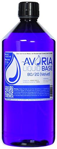AVORIA – Liquid Base 80/20 zur Herstellung von eigenen Liquids für E-Zigaretten, Vaper und Dampfer   Basis – Made in…