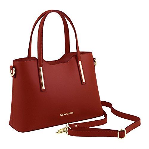 Sac Ruga modèle Olimpia foncé Petit TL141521 Blue Leather Cabas Rouge Cuir Tuscany en EBaHnwYT