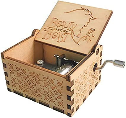 INHEMI Caja de Música de Madera de La Bella y la Bestia, Caja ...